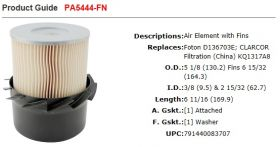 Baldwin Air Filter PA5444-FN