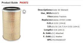 Baldwin Air Filter PA3972 suit DP30X3