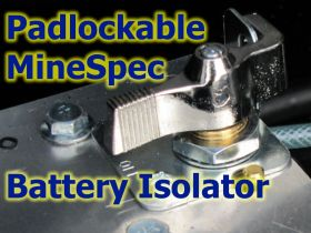 Battery Isolation - Padlock