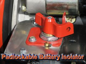 Padlockable Battery Isolator