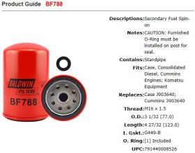 Baldwin Fuel Filter BF788 Specifications