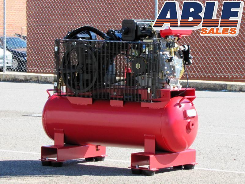 Diesel Air Compressor 7hp 100lt 145psi 20cfm