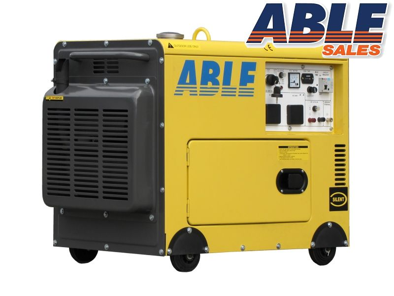 6kVA Small Genset - Air Cooled  sc 1 st  Able Sales & 6 KVA Diesel Generator Silenced Canopy Single Phase