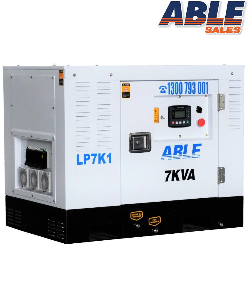 7kVA Diesel - NEW DESIGN - 7 kVA Generator Perth and Brisbane